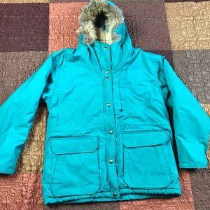 Woolrich Parka Jacket Coat Wool Lined Fur Size M